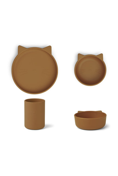 Cyrus silicone junior set cat mustard