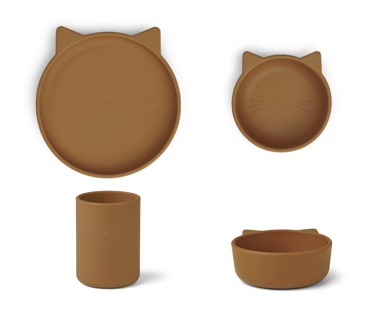 Cyrus silicone junior set cat mustard-1