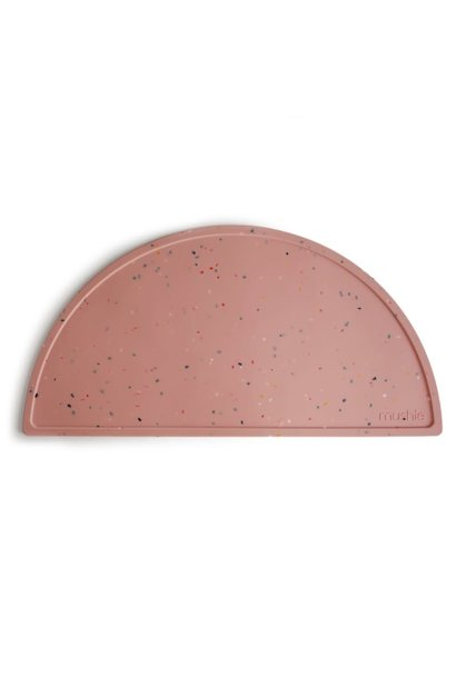 Silicone placemat confetti pink powder