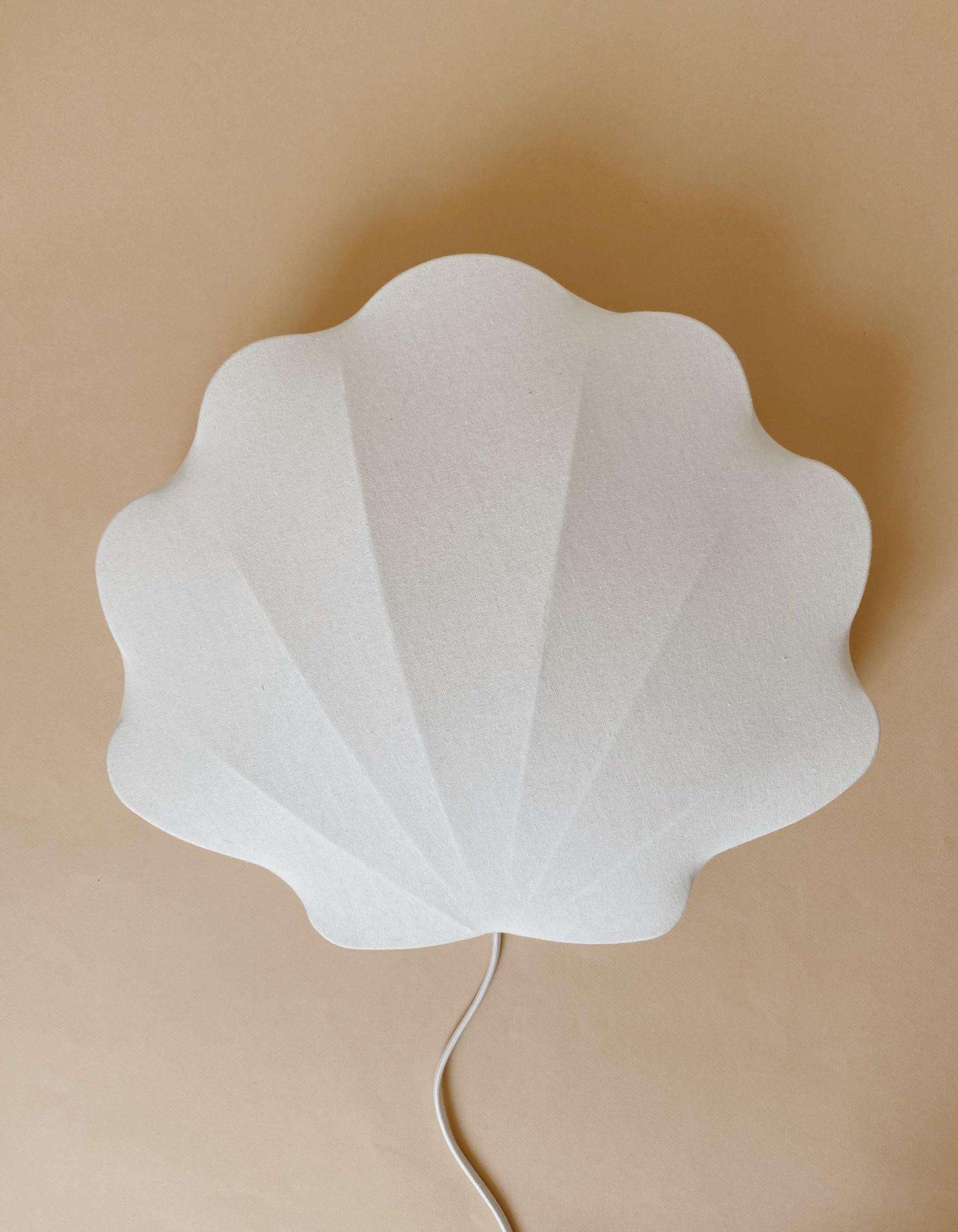Fabric lamp clam off-white-2