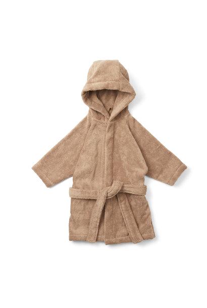 Kids terry bathrobe beige tan