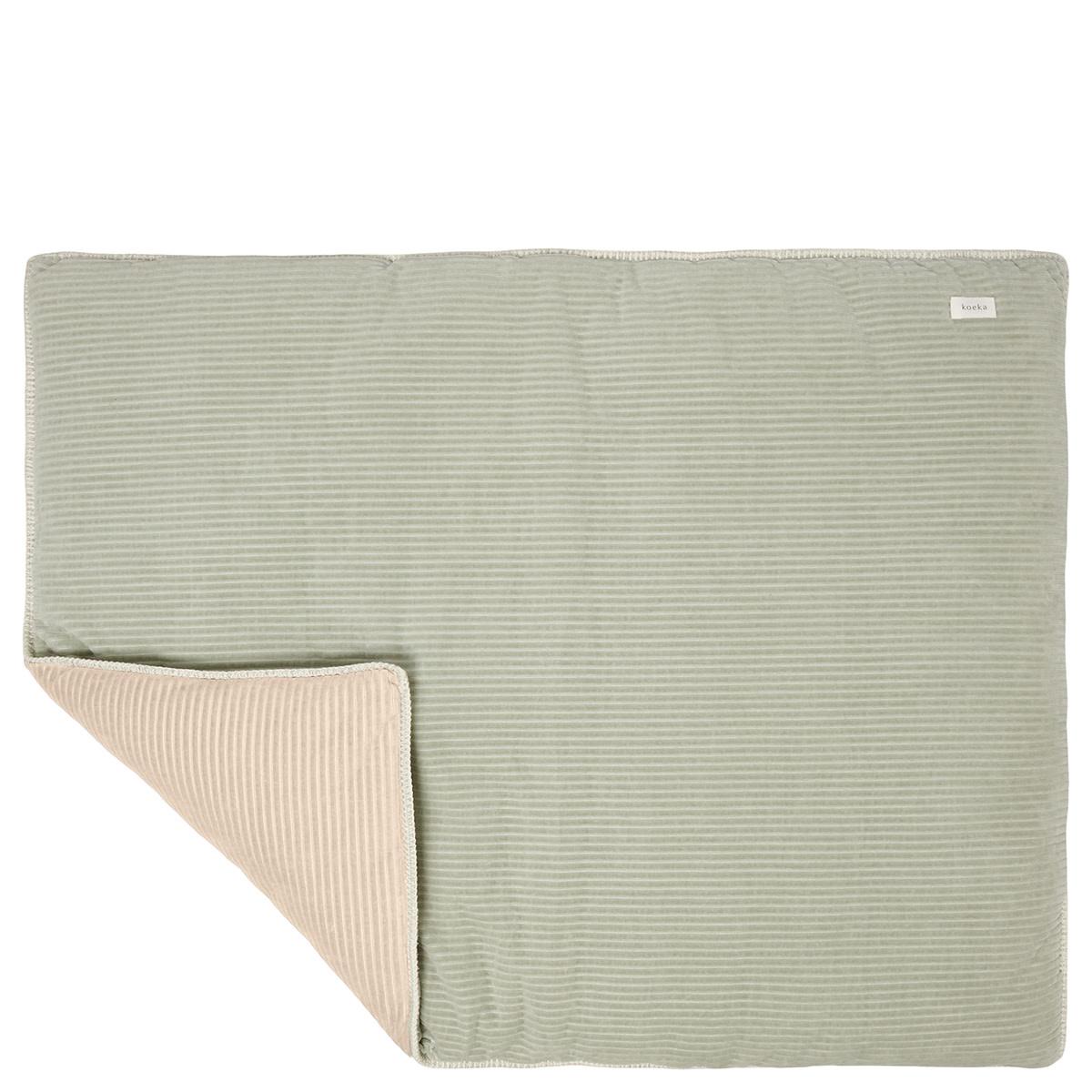 Boxkleed vik shadow green/sand-1