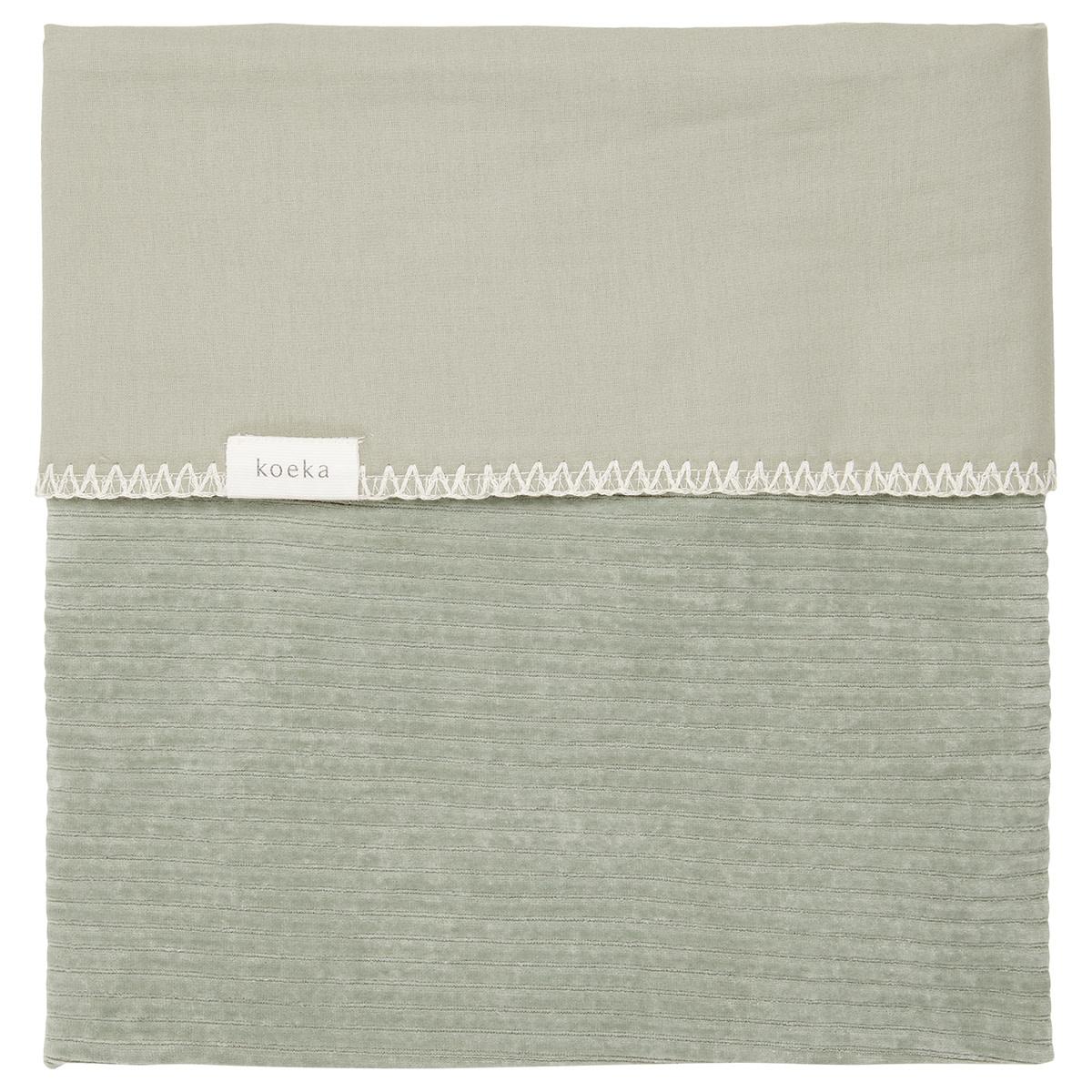 Ledikantdeken flannel vik shadow green-1