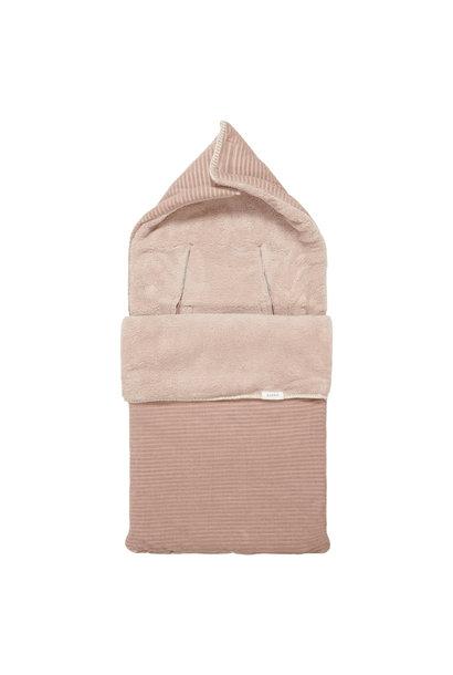 Voetenzak vik teddy grey pink