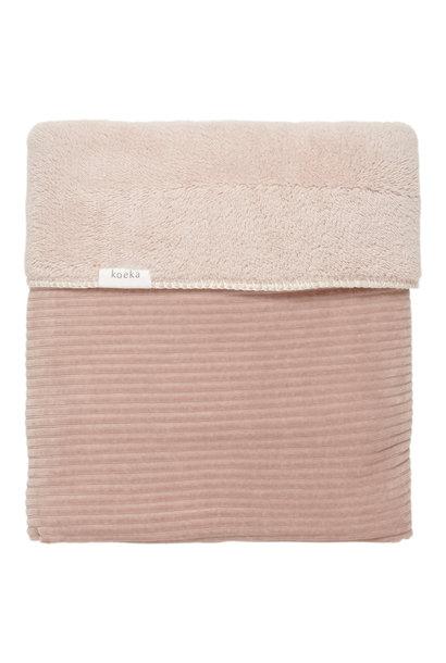 Wiegdeken vik teddy grey pink