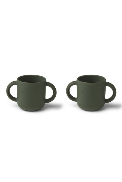 Gene silicone cup rabbit hunter green - 2 pack
