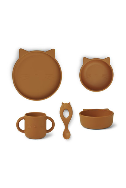 Vivi silicone set cat mustard