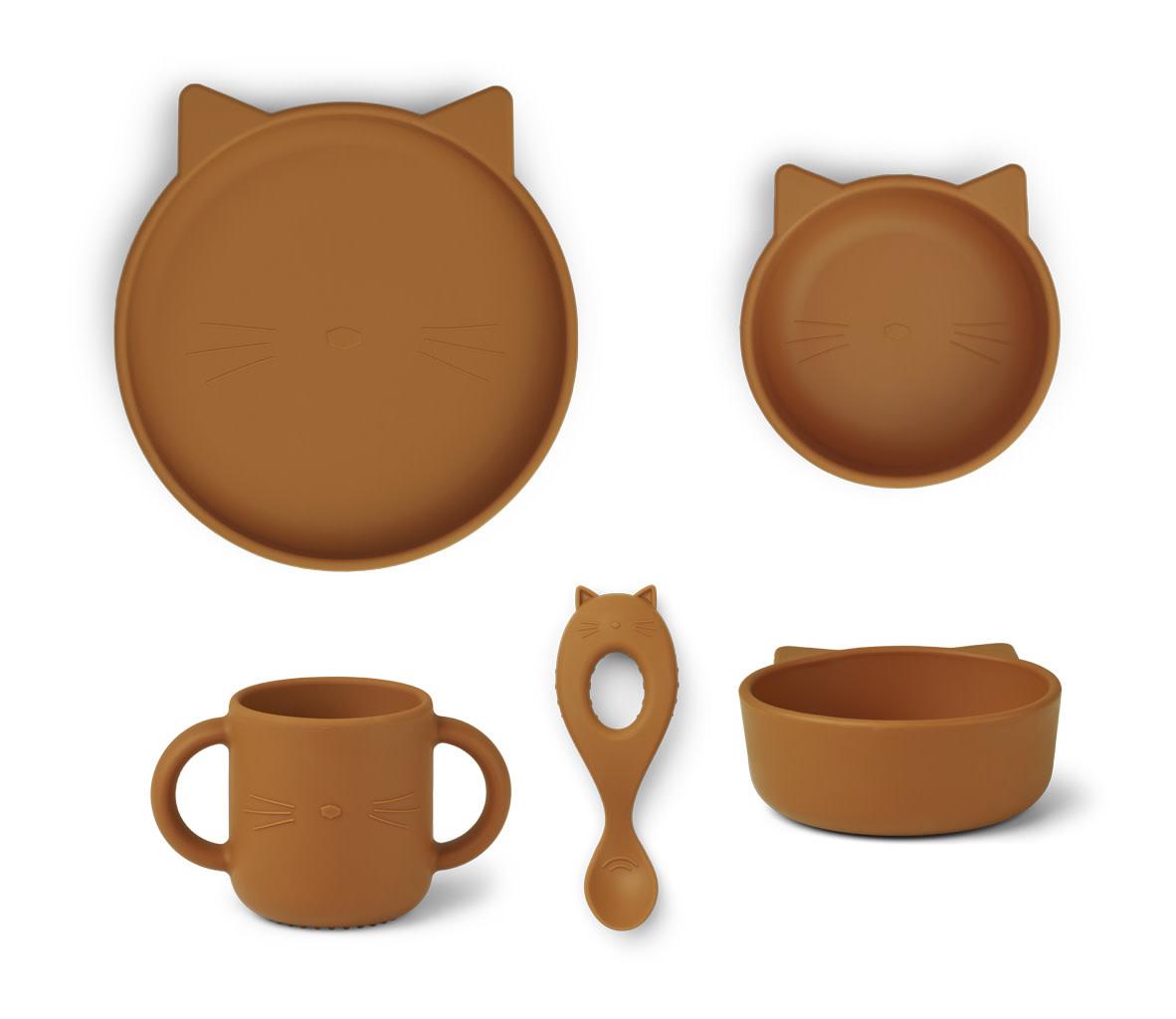 Vivi silicone set cat mustard-1