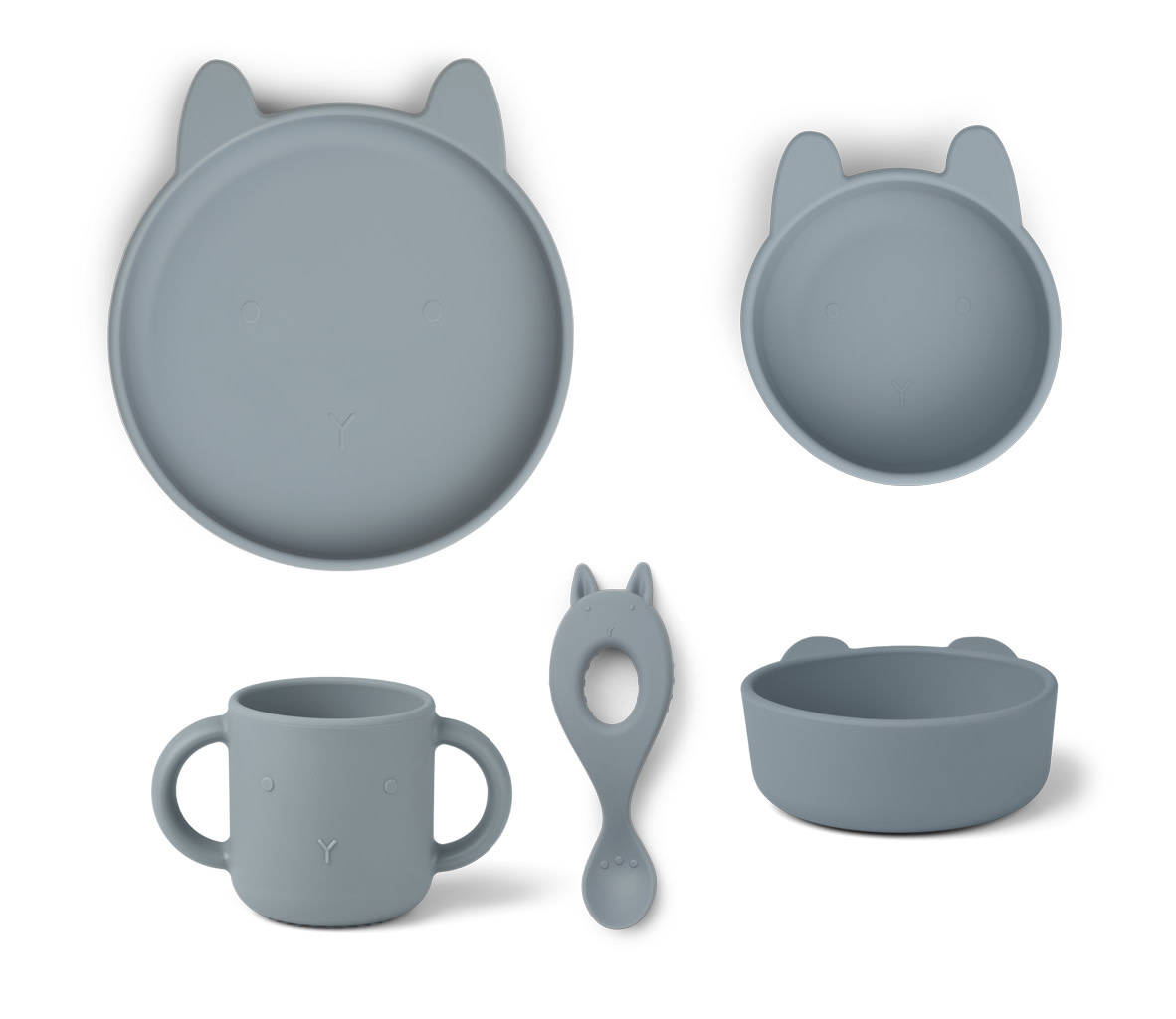 Vivi silicone set rabbit sea blue-1