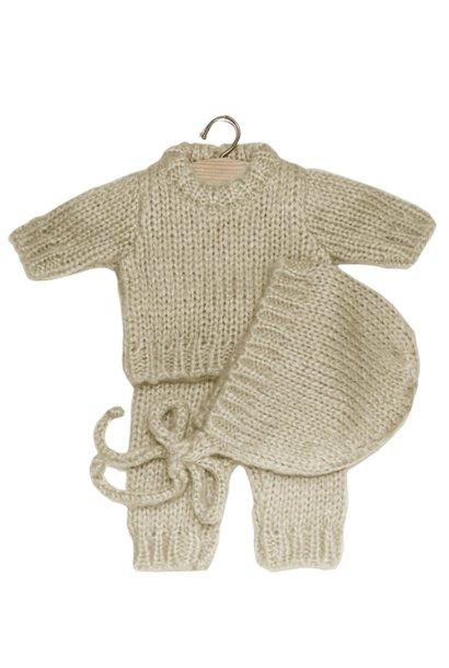 Ensemble gaspard en laine écru