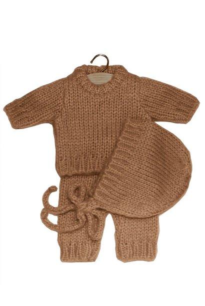 Ensemble gaspard en laine taupe