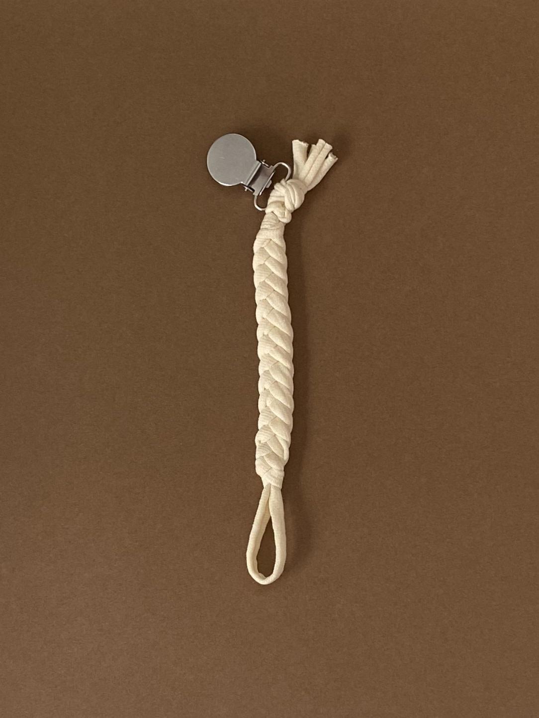 Fopspeenketting uni cotton vanilla-1