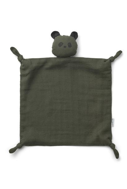 Agnete cuddle cloth panda hunter green