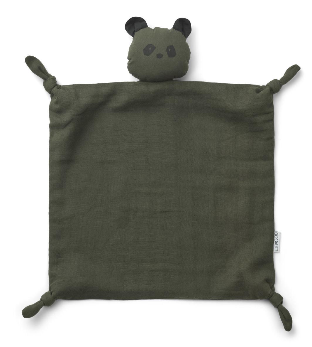 Agnete cuddle cloth panda hunter green-1