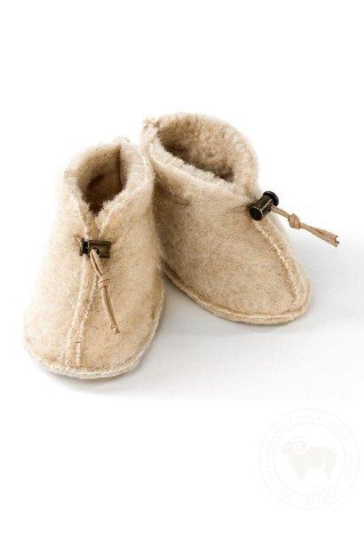 Slofjes emo wool beige