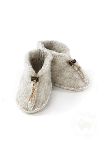 Slofjes emo wool light grey