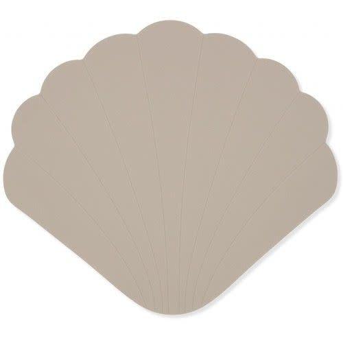 Silicone bath mat clam warm grey-1
