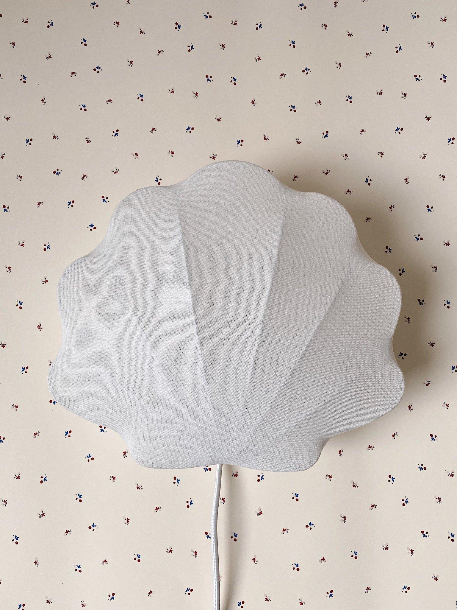 Fabric lamp clam off-white-3