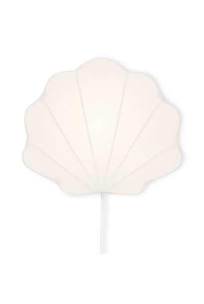 Fabric lamp clam off-white
