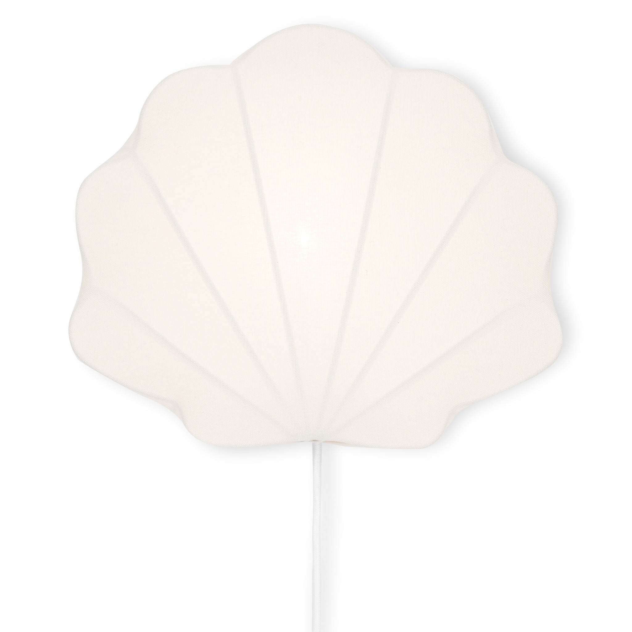 Fabric lamp clam off-white-1