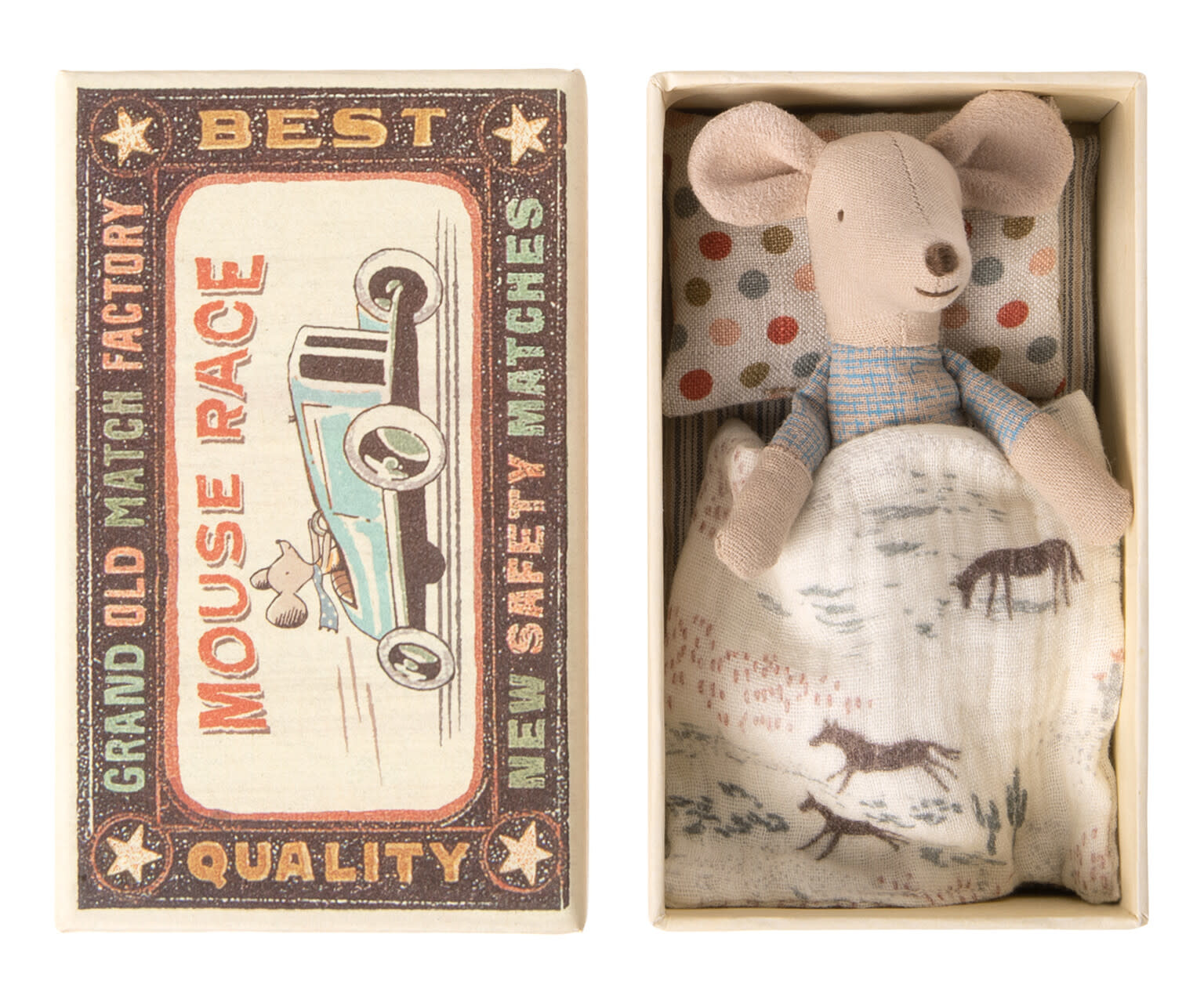 Little brother mouse in matchbox-1