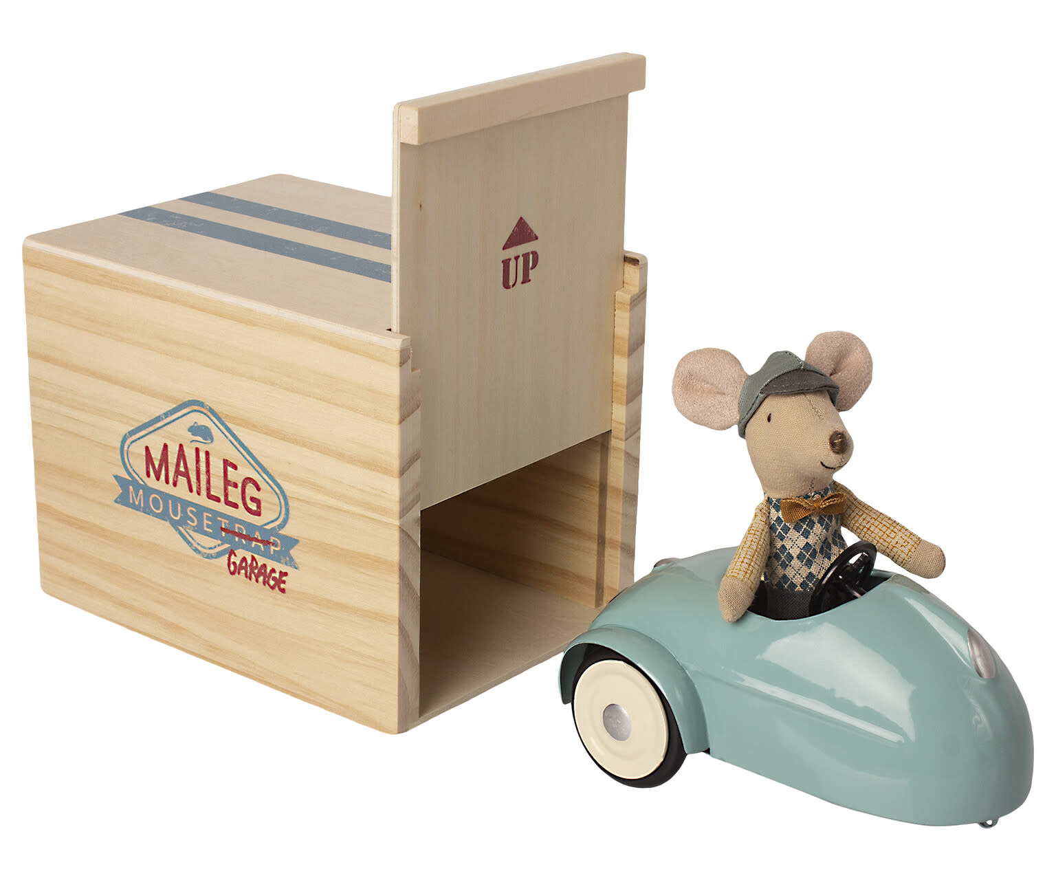 Mouse car with garage blue-1