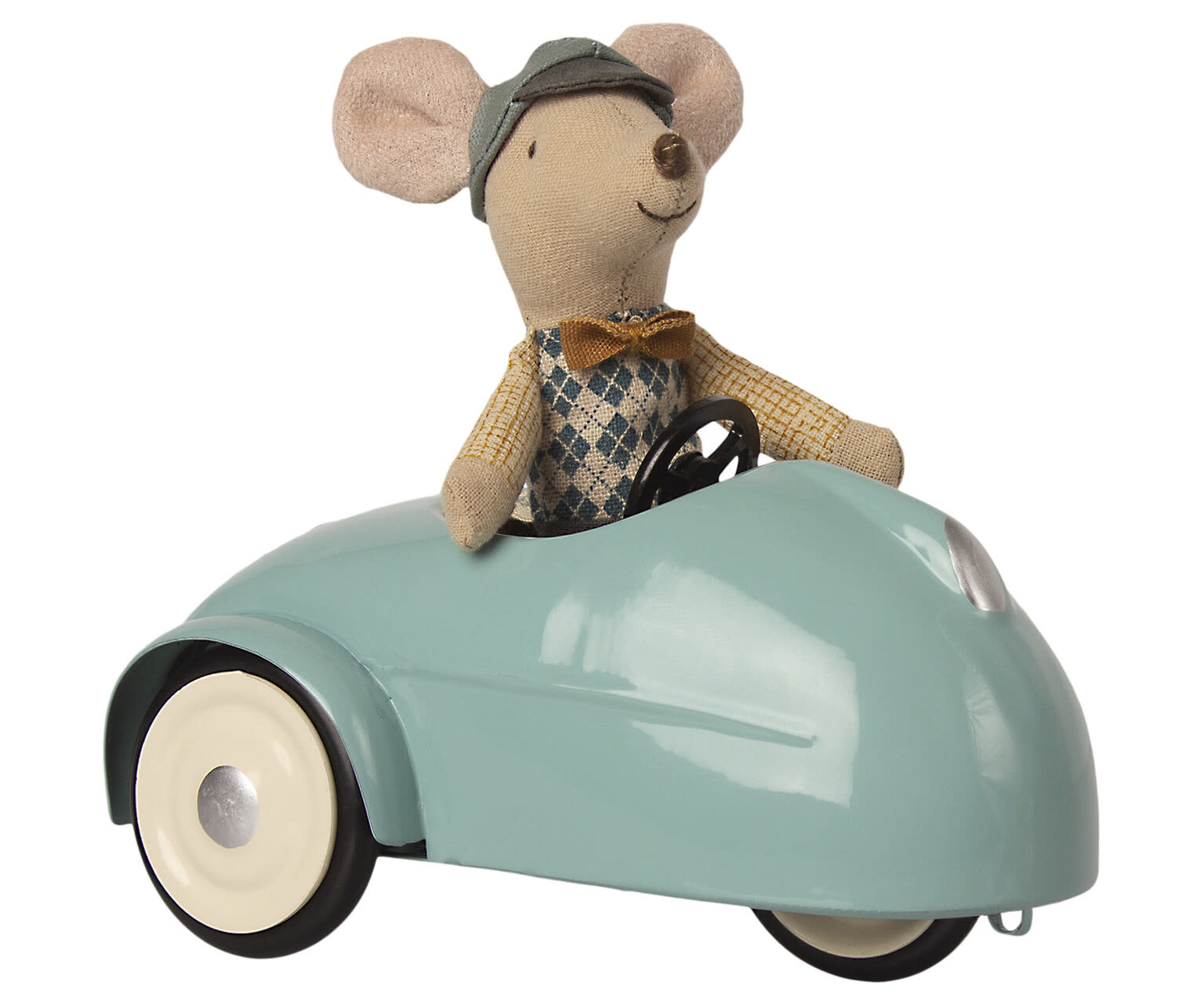 Mouse car with garage blue-2