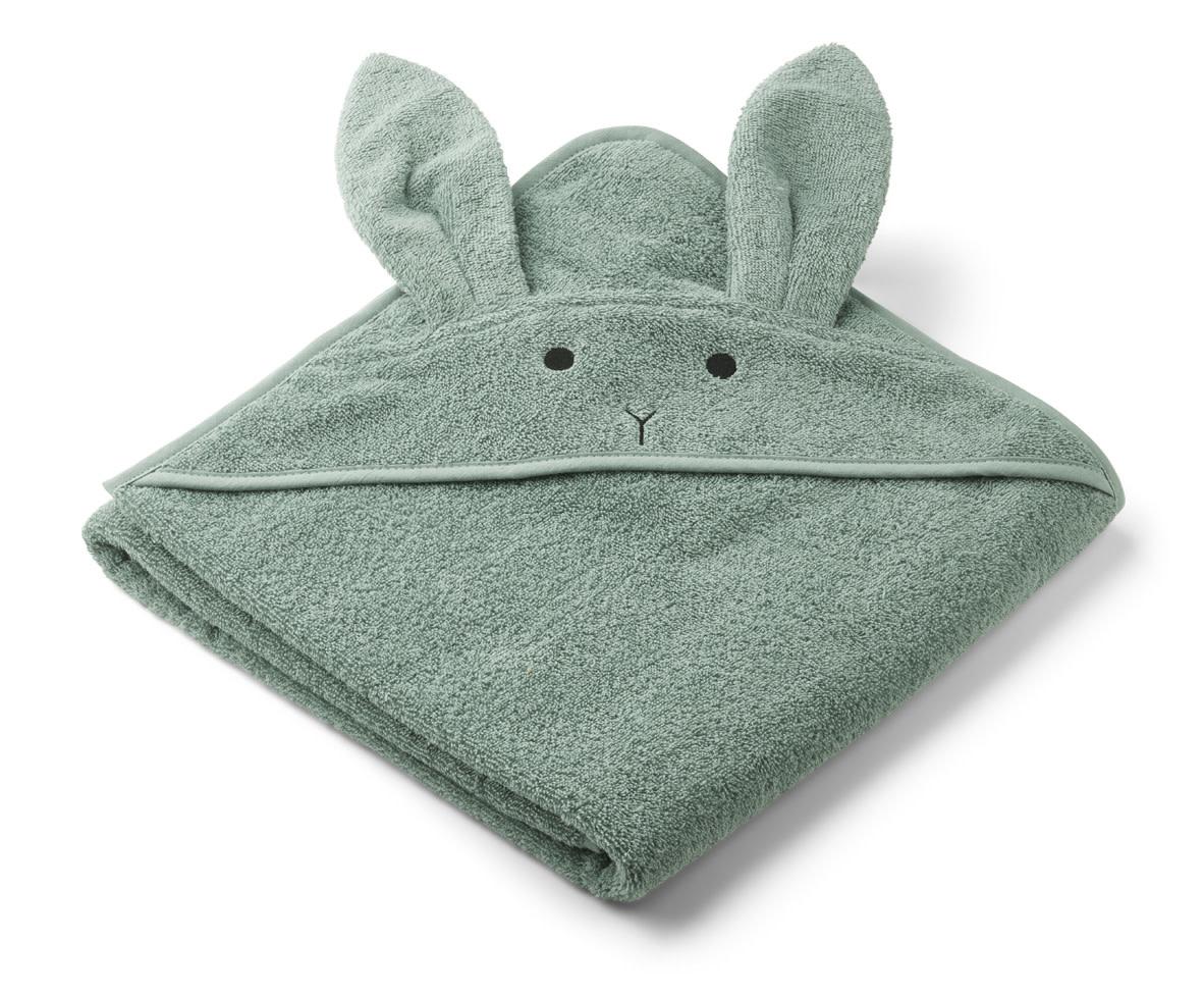 Augusta hooded towel rabbit peppermint-1