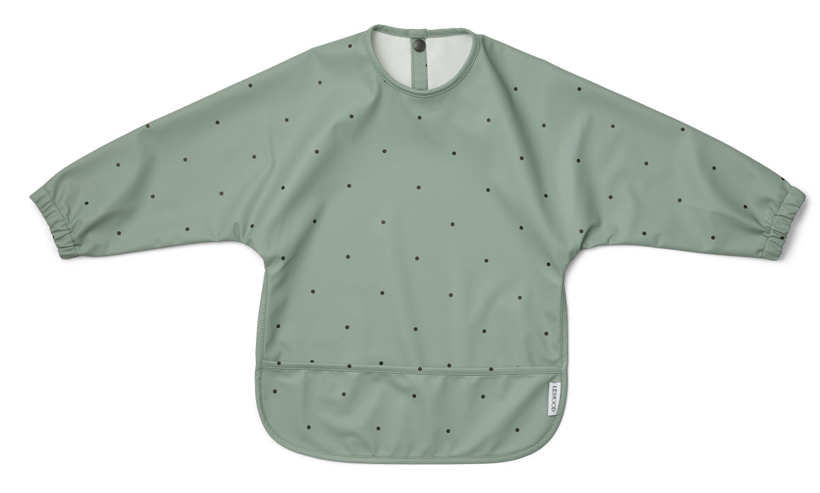Merle cape bib classic dot peppermint-1