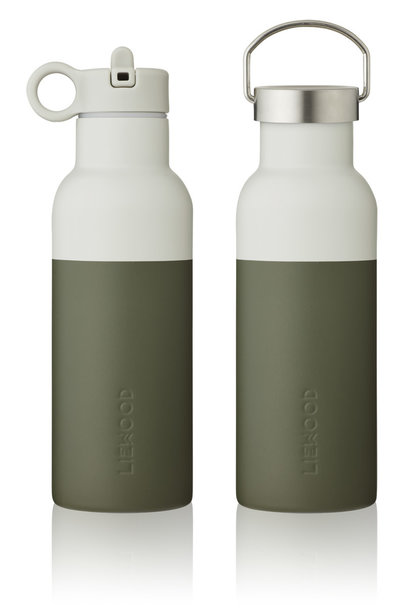 Neo water bottle hunter green/dove blue mix