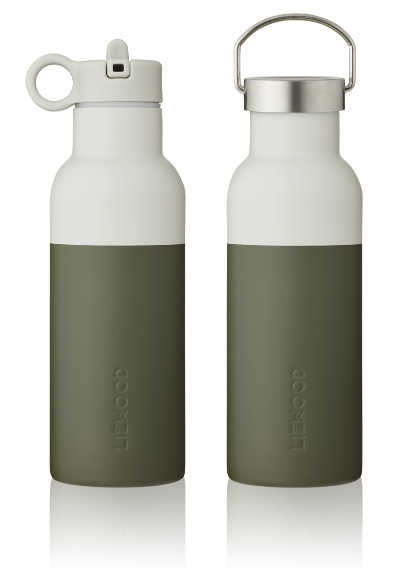 Neo water bottle hunter green/dove blue mix-1