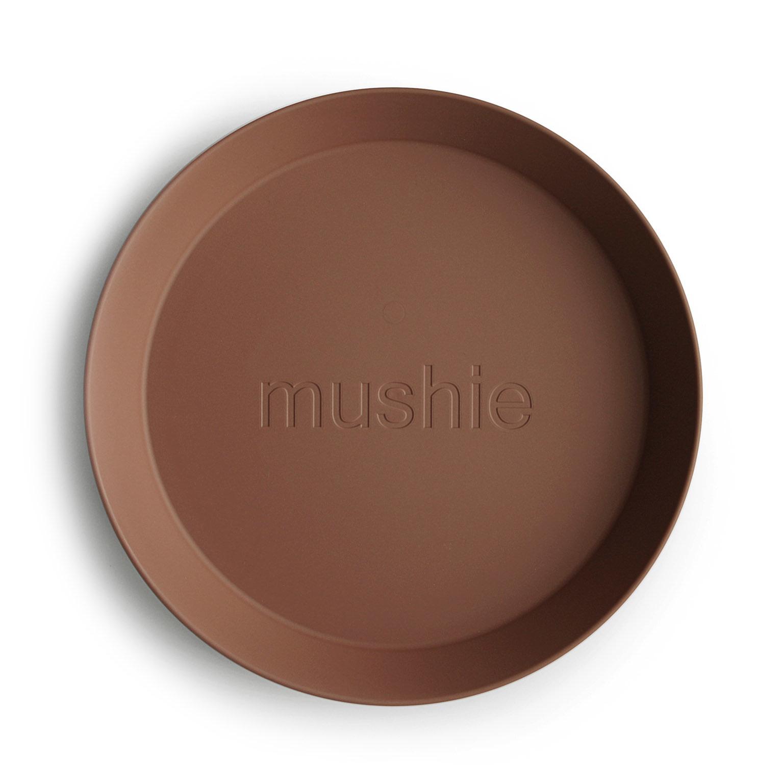 Plates round 2 pack caramel-2