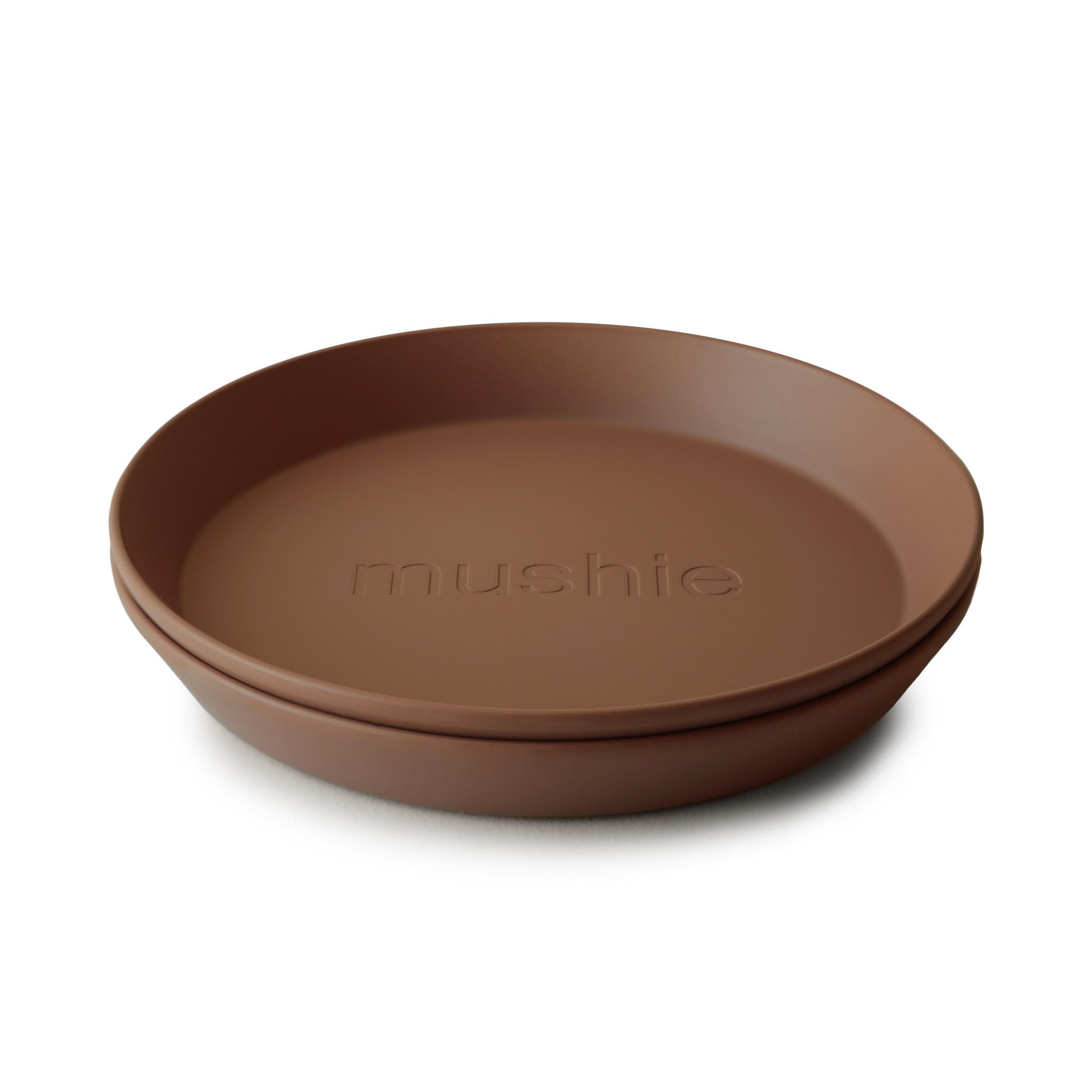 Plates round 2 pack caramel-1