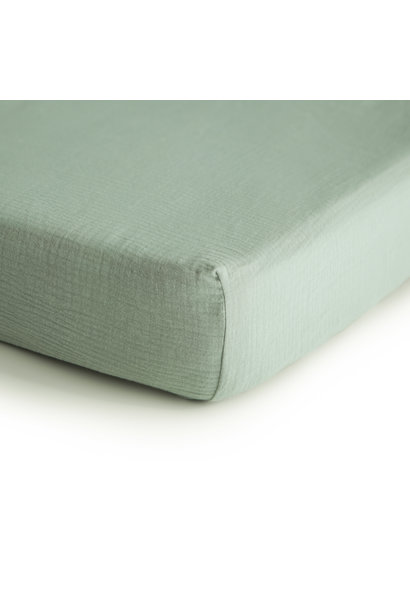 Crib sheet roman green