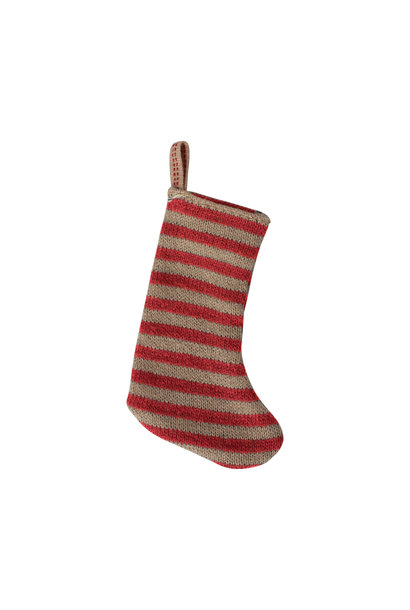 Christmas stocking red/sand