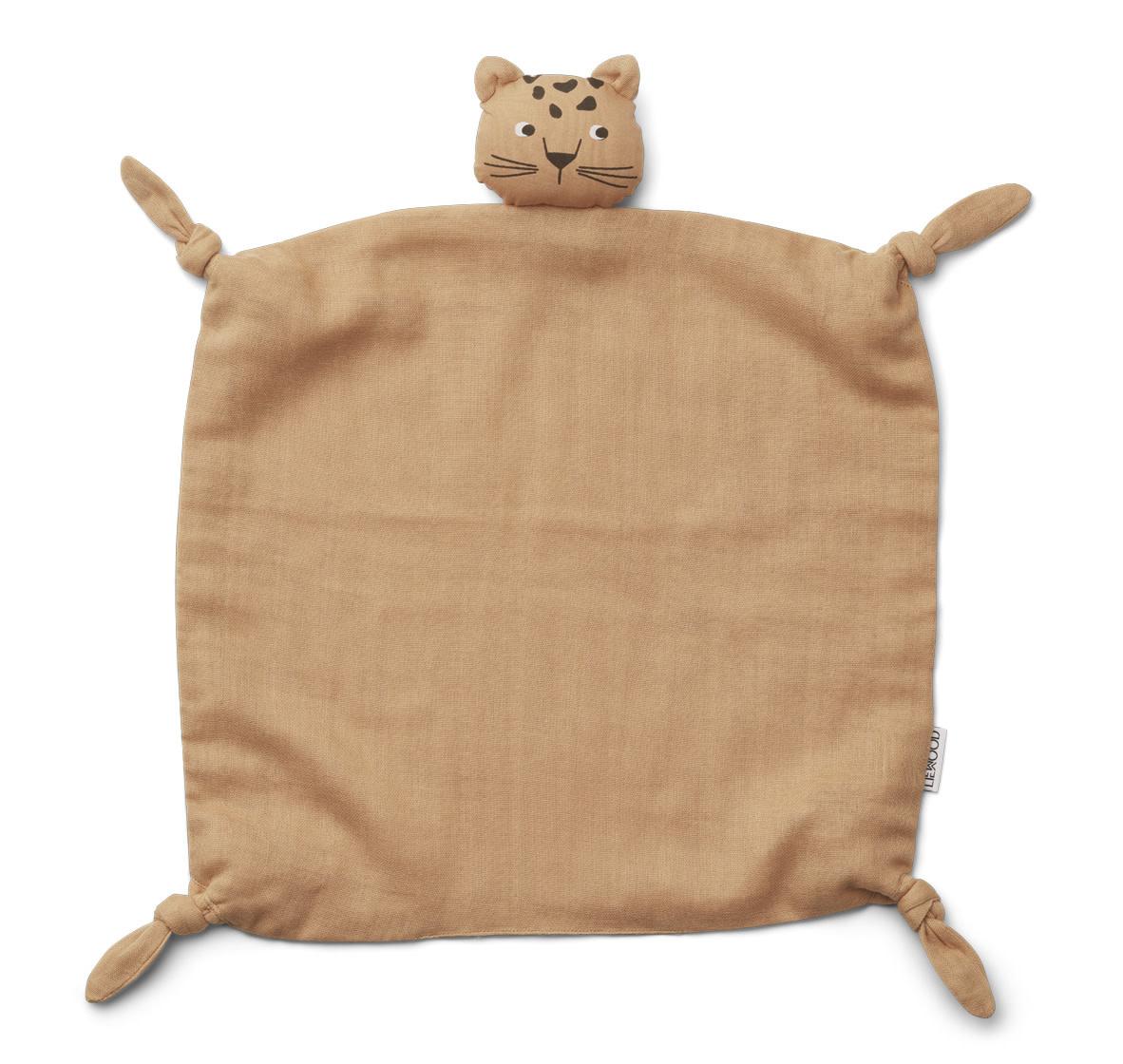 Agnete cuddle cloth leopard apricot-1