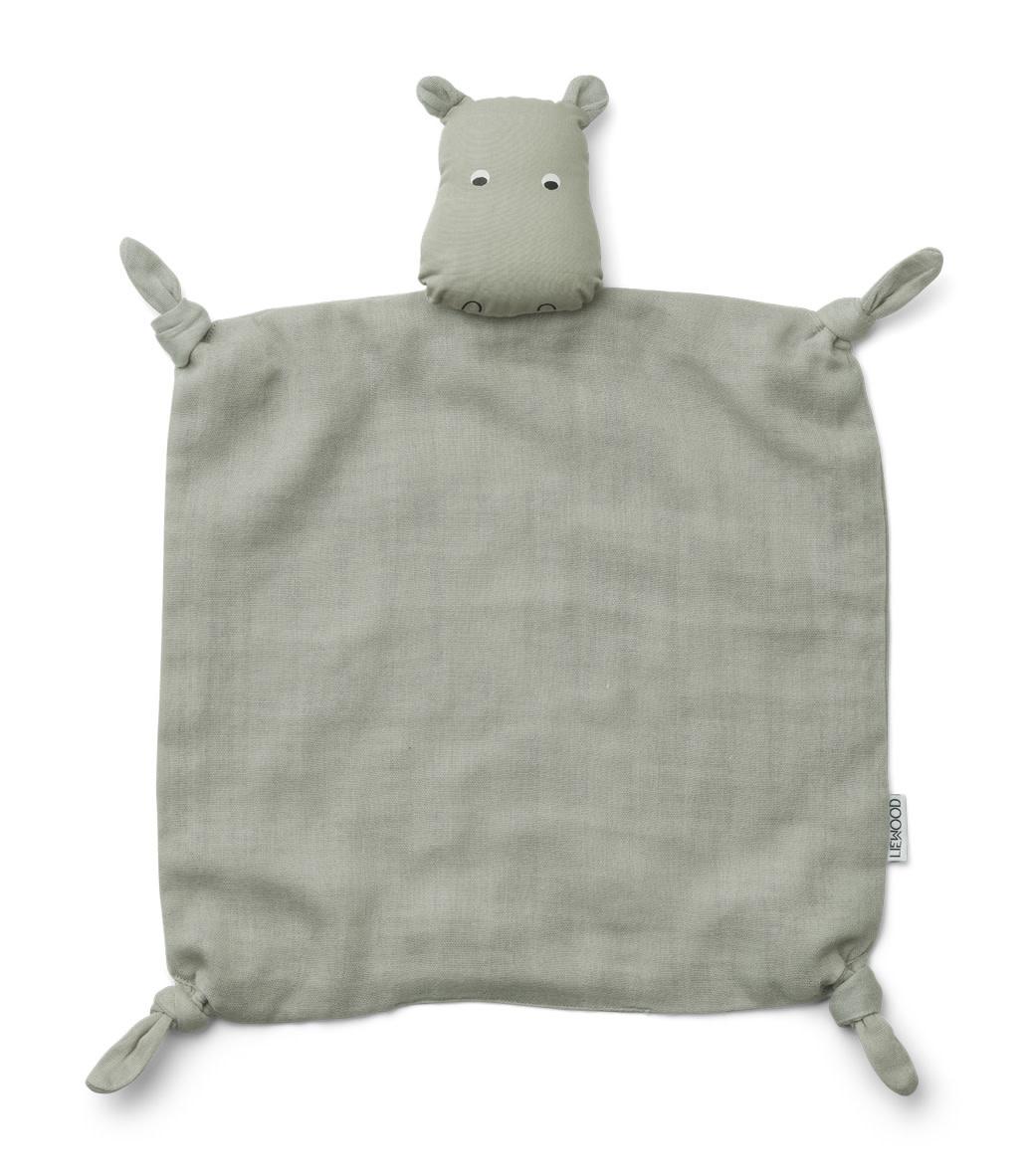 Agnete cuddle cloth hippo dove blue-1