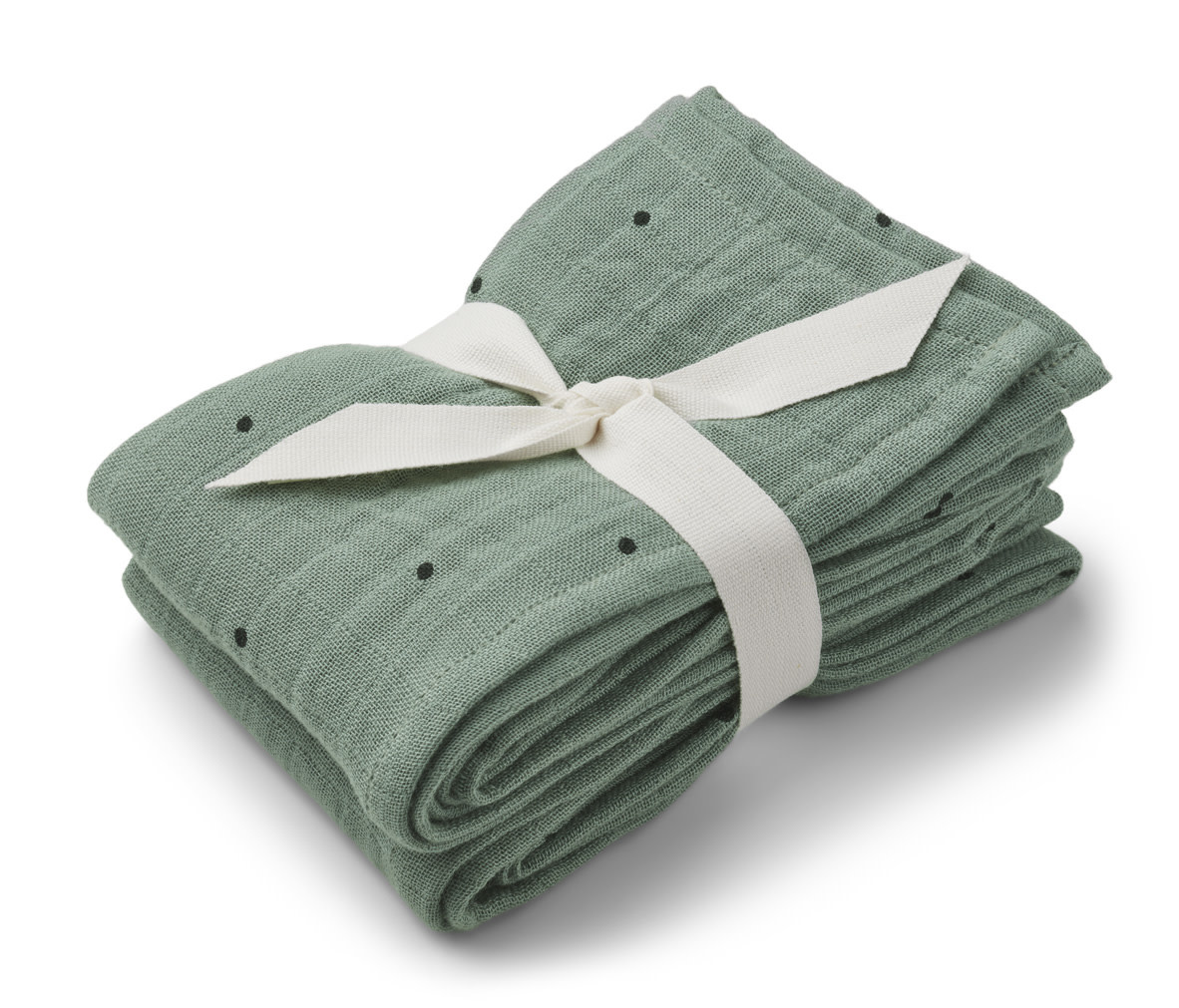 Lewis muslin cloth classic dot peppermint - 2 pack-1