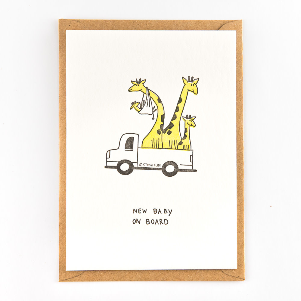 Kaartje 'giraf family'-1