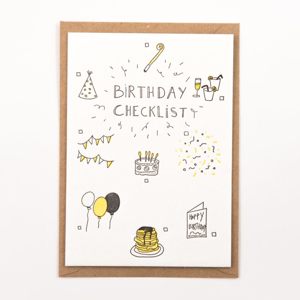 Kaartje 'birthday checklist'-1