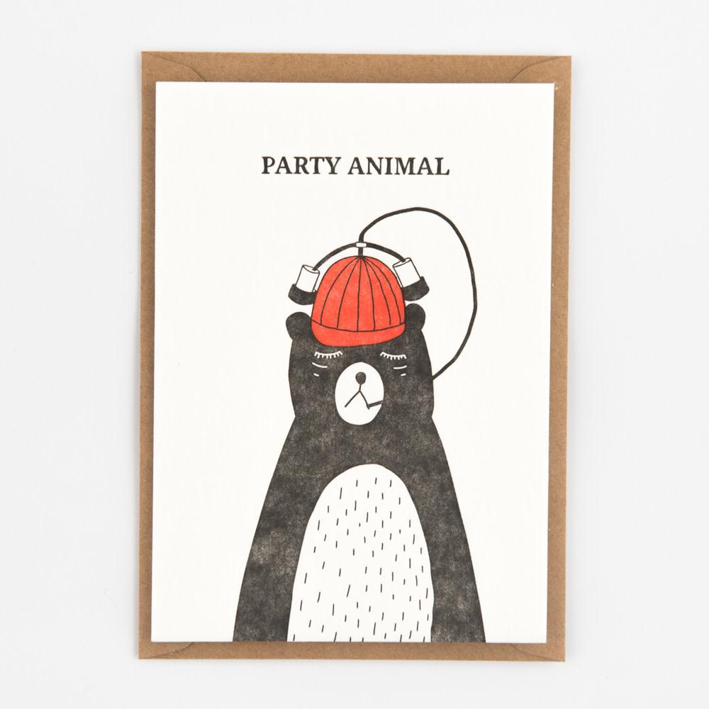 Kaartje 'party animal'-1