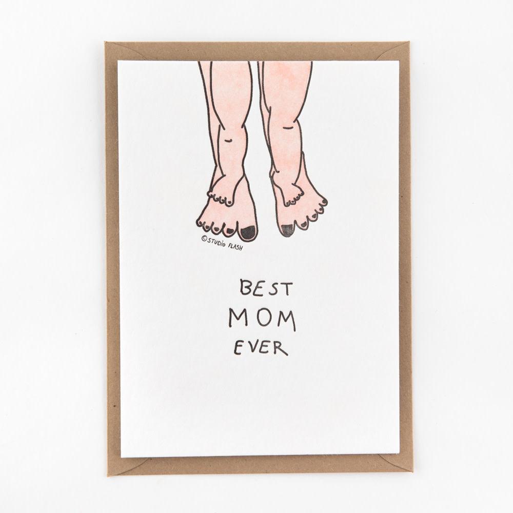 Kaartje 'best mom ever - feet'-1