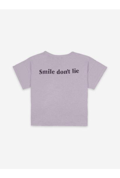 Big smile lilas short sleeve t-shirt