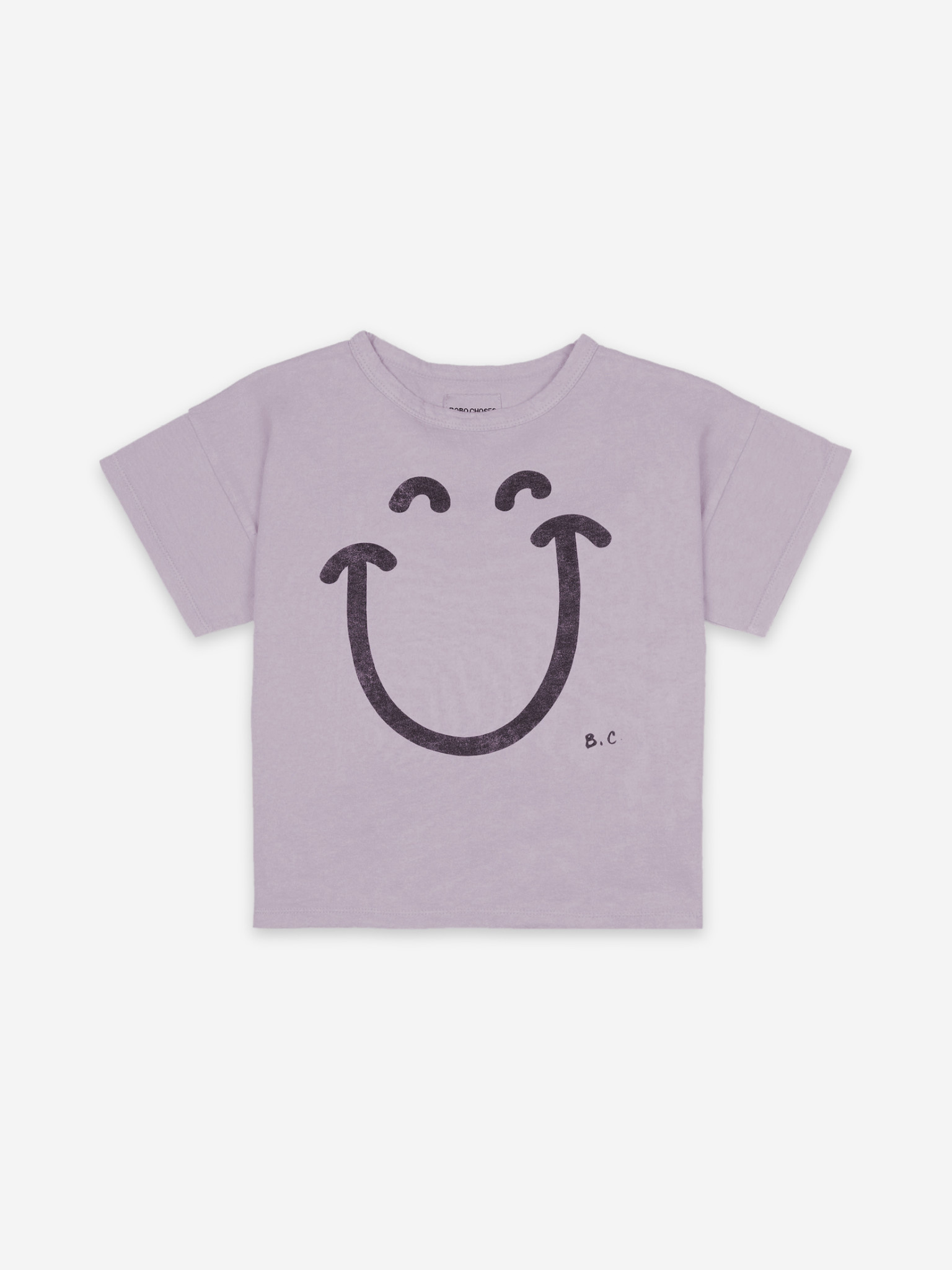 Big smile lilas short sleeve t-shirt-2