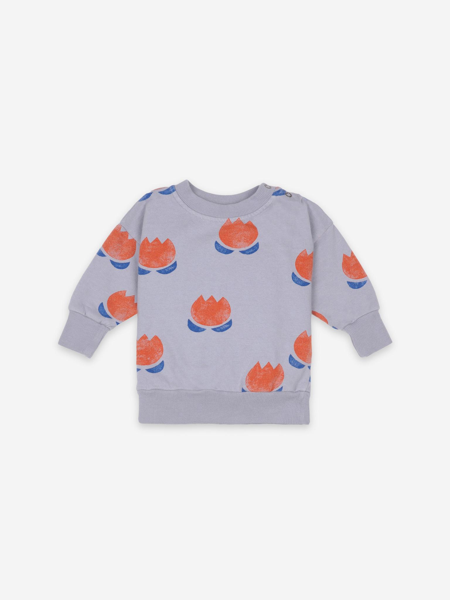 Chocolate flower sweatshirt-1