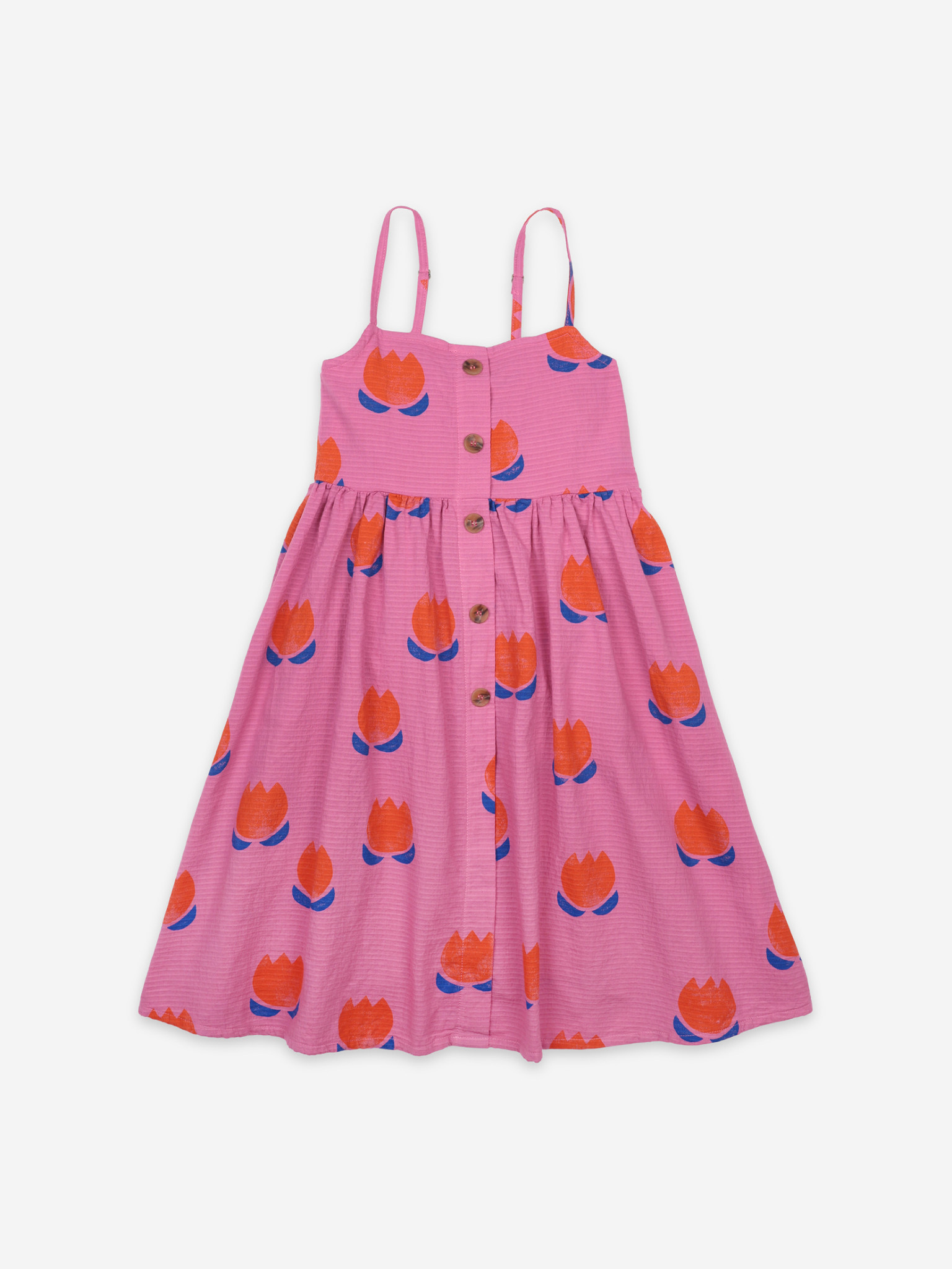Chocolate flowers all over woven dress-1