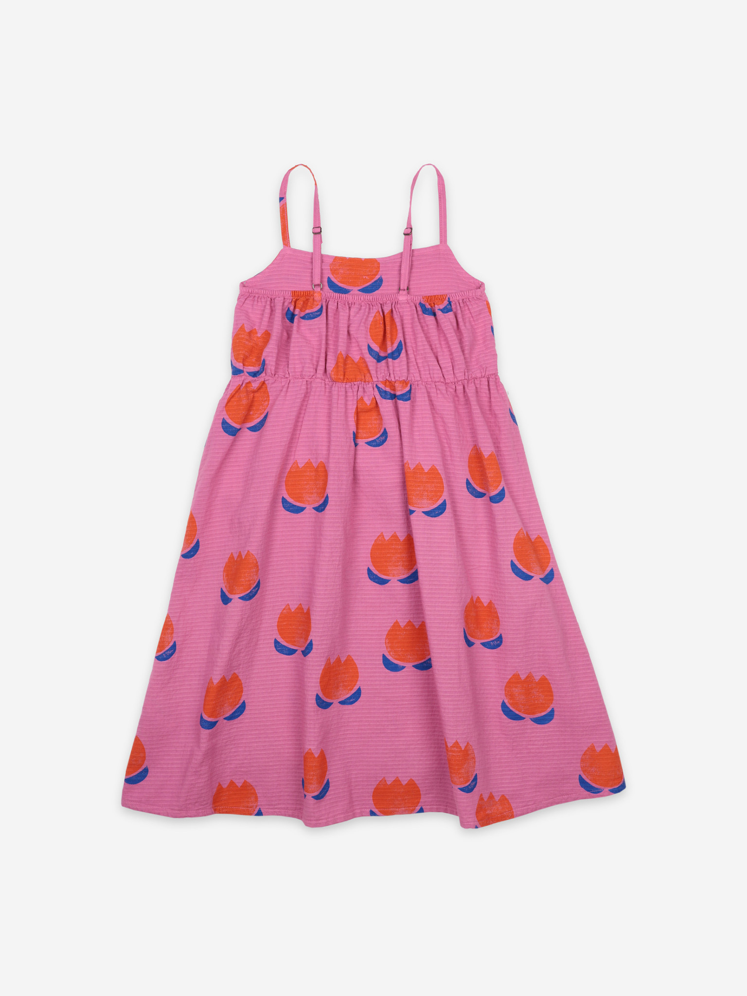 Chocolate flowers all over woven dress-2