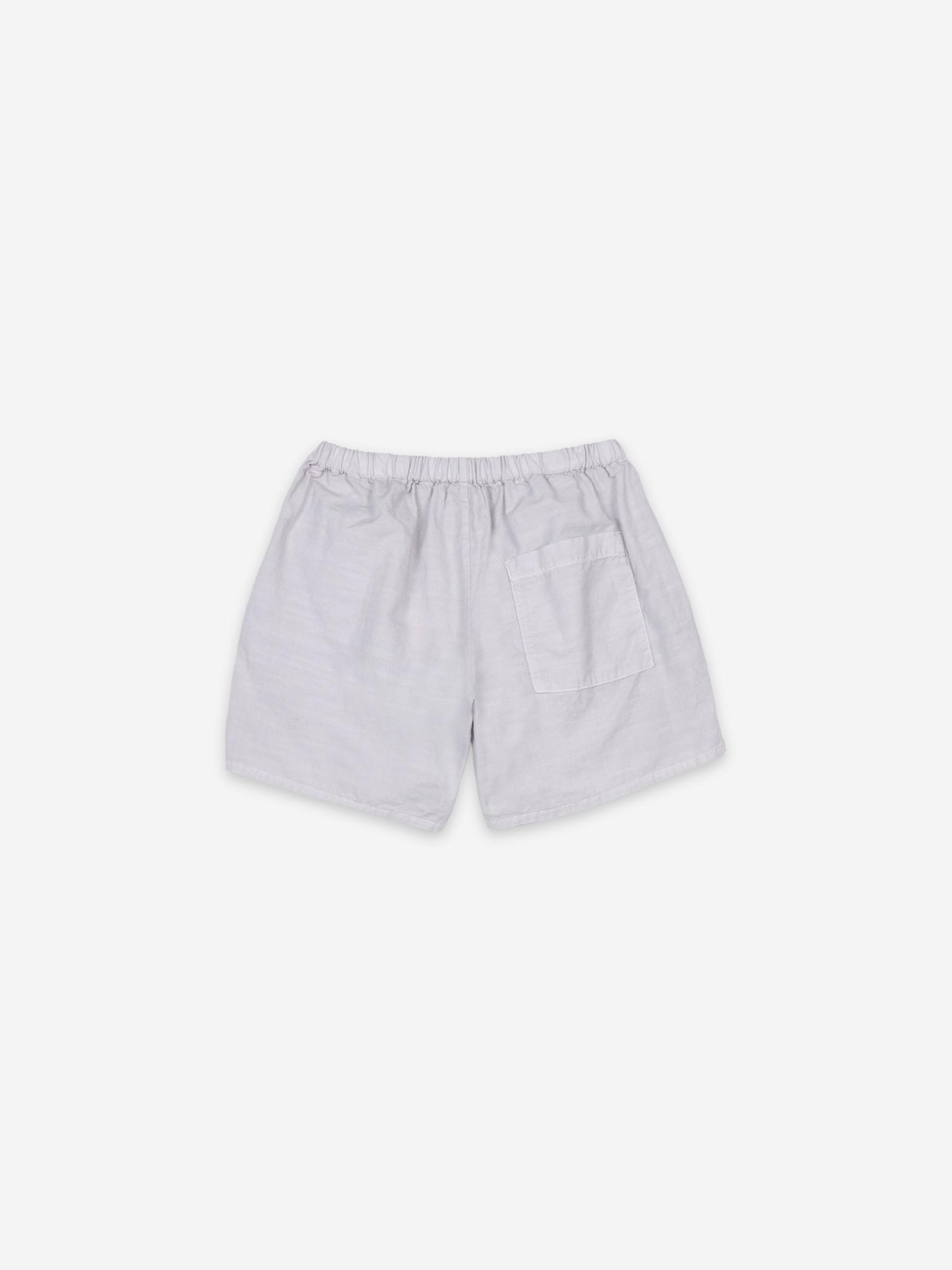 Crosswise stripes woven shorts kids-2