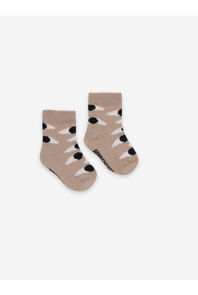 Eyes beige baby socks