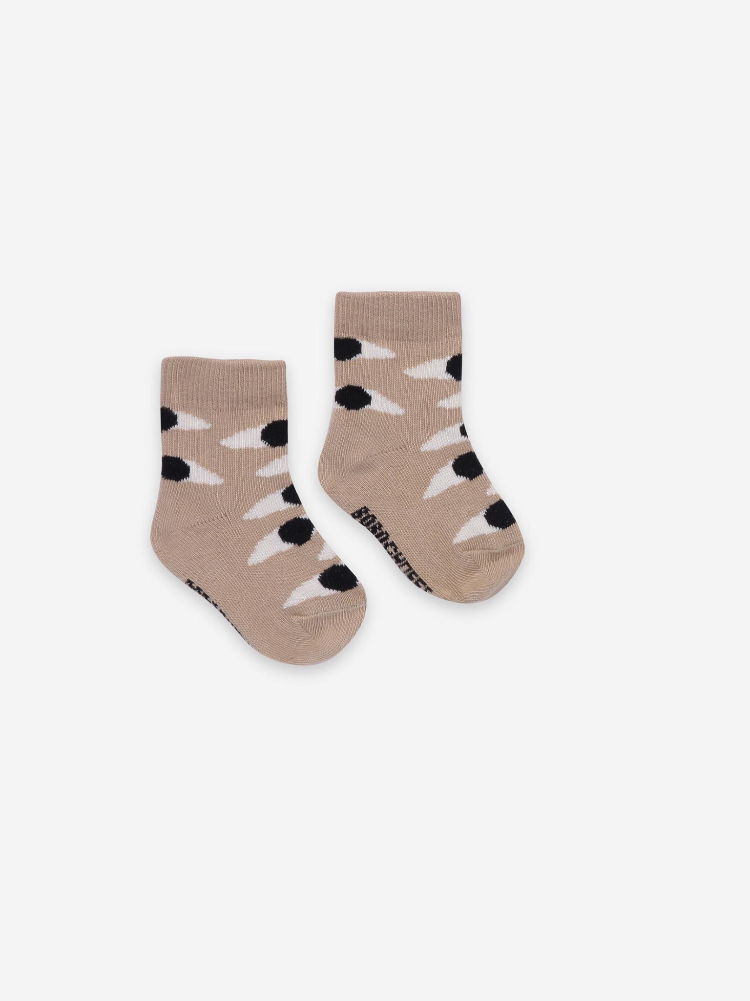 Eyes beige baby socks-1